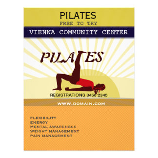 Golden Sun Sports Fitness Pilates 21.5 Cm X 28 Cm Flyer