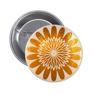 Golden Sunflower ART decoration 6 Cm Round Badge