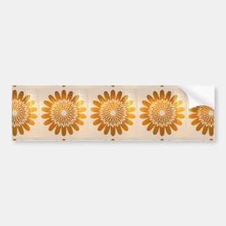 Golden Sunflower ART decoration Bumper Sticker