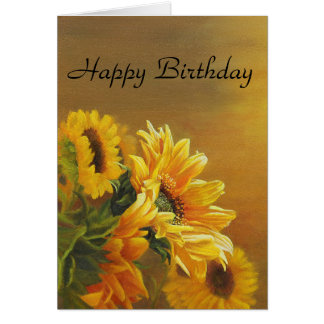 Golden Sunflowers Card
