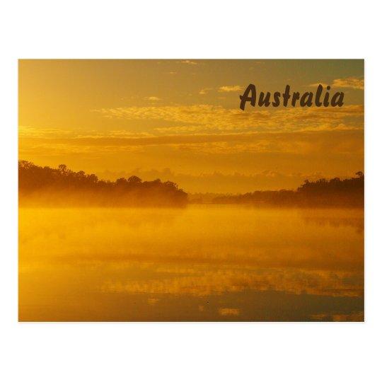 Golden sunrise postcard
