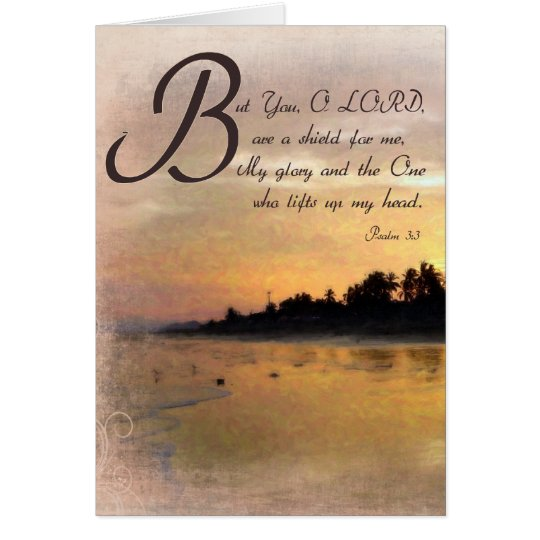 Golden Sunset and Psalms / Bible Verse Gift Sets Card