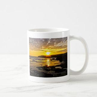 Golden Sunset Basic White Mug