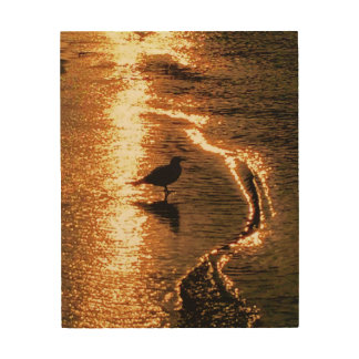 Golden Sunset - Lake George Wood Wall Decor