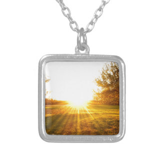 Golden Sunset on the Island Silver Plated Necklace