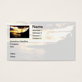 Golden Sunset Over the Water in Dominica Business Card
