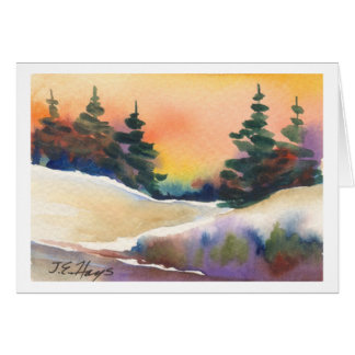 Golden Sunset Pines Card