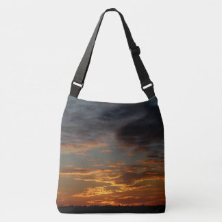 Golden Sunset Sky Crossbody Bag