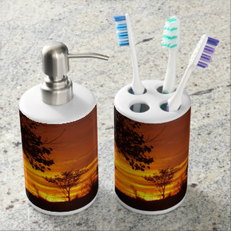 Golden Sunset Toothbrush Holders