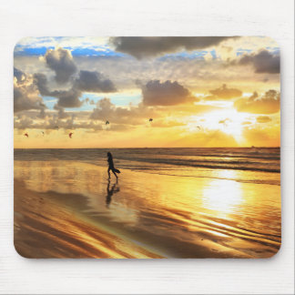 Golden Surf Sunset Mouse Pad