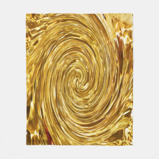 Golden Swirl Fleece Blanket