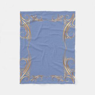 Golden Swirl Illustration Fleece Blanket