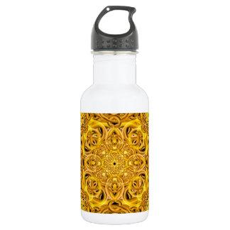 Golden Swirls Mandala 532 Ml Water Bottle