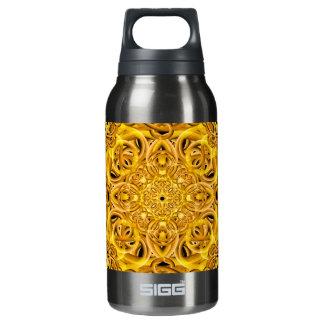Golden Swirls Mandala Insulated Water Bottle