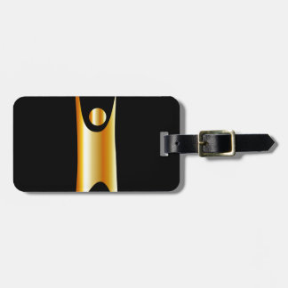 Golden symbol of Humanism Luggage Tag