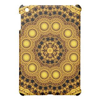 Golden Symmetry Mandala iPad Mini Cover