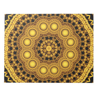 Golden Symmetry Mandala Notepads