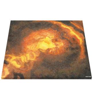 Golden T-Rex Canvas Print