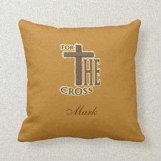 Golden / Tan Rejoice Throw Pillow