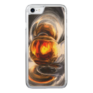 Golden Tears Pastel Abstract Carved iPhone 7 Case