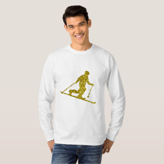 Golden Telemark skiing Long Sleeve T-Shirt