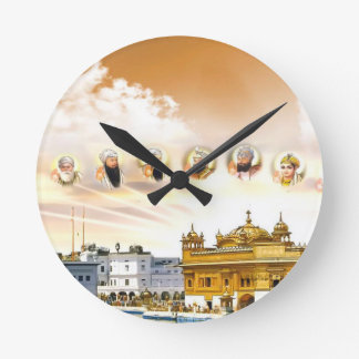 GOLDEN TEMPLE WITH THE SIKH GURUS WALLCLOCK