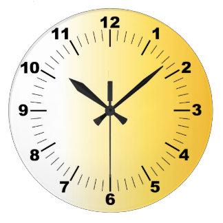 Golden texture large clock