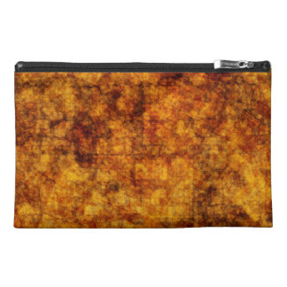 Golden Texture-look Abstract Travel Accessory Bag