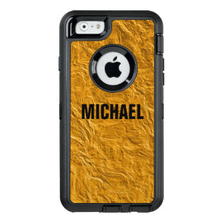Golden texture OtterBox defender iPhone case