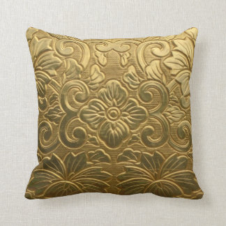 Golden Texture Throw Pillow