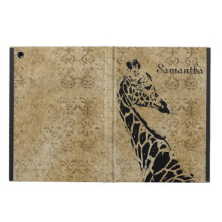 Golden Textured Giraffe iPad Air Cases