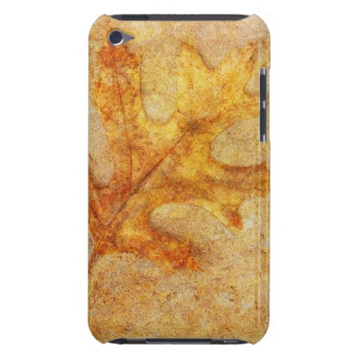 Golden Textured Leaf iPod Touch Covers