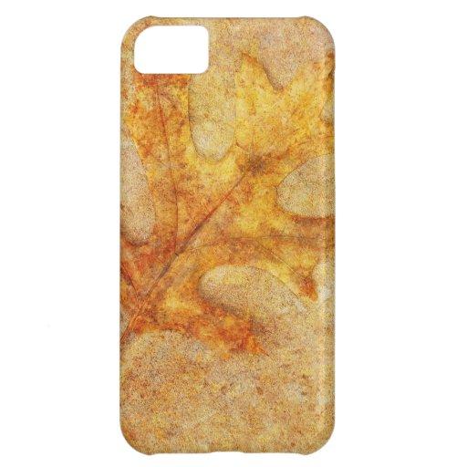 Golden Textured Leaf iPhone 5C Case