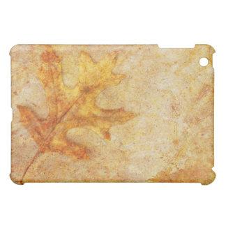 Golden Textured Leaf iPad Mini Case