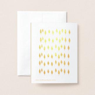 Golden Thank You Card