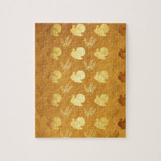 Golden Thanksgiving with Turkey Jigsaw Puzzle