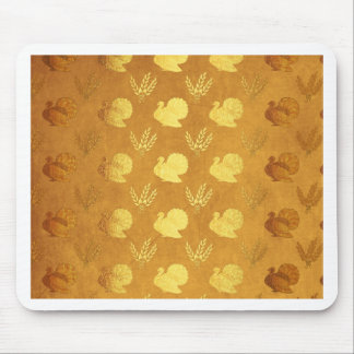 Golden Thanksgiving with Turkey Mouse Pad