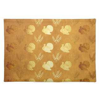 Golden Thanksgiving with Turkey Placemat