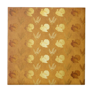 Golden Thanksgiving with Turkey Tile