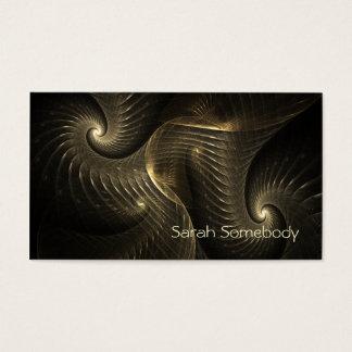 Golden Thread Spiral Fractal Art Business Card