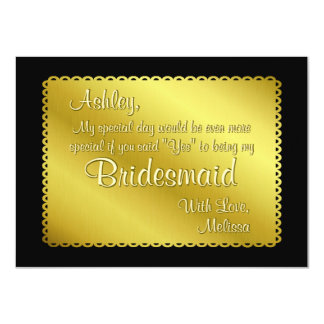 Golden Ticket Look Will You Be My Bridesmaid 11 Cm X 16 Cm Invitation Card