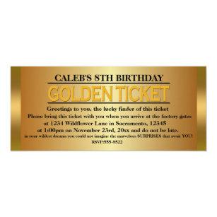 Golden ticket invitations announcements zazzle golden ticket type birthday party event invitation filmwisefo