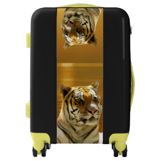 Golden Tiger Carry On Luggage Suitcase