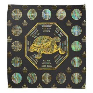 Golden Tortoise / Turtle Feng Shui Abalone Shell Bandana