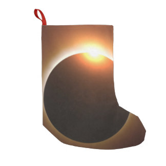 Golden Total Solar Eclipse Small Christmas Stocking