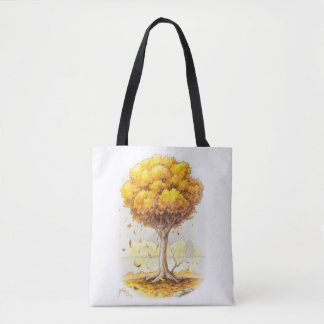 Golden Tranquility Tote Bag