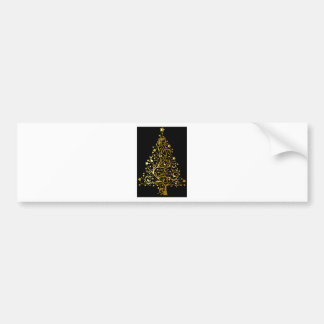 Golden tree design bumper sticker