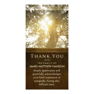 Golden Tree Nostalgia Sympathy Thank You Card Picture Card