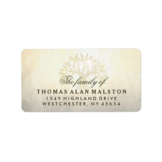 Golden Tree Sympathy Matching Address Labels