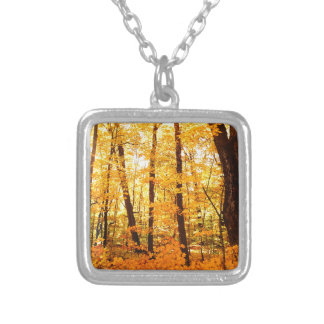 Golden Trees on St Joseph Island Silver Plated Necklace